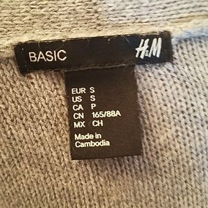 H&M Sweaters - H&M Basic Open Front Cardigan Heather Gray